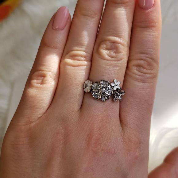 216b8a6ca Pandora Jewelry | Shimmering Bouquet Ringsize 54 | Poshmark